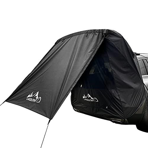 LPL Tienda de Correa de Coches Tienda de campaña Hecho a Prueba de Lluvia Tienda Trasera Autocámara Simple for la conducción automática Tour Barbacoa Camping (Color : Black)