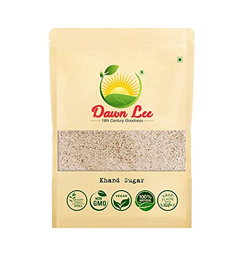 Atome Dawn Lee Khandsari Sugar Unrefined Desi Khand Muscovado Sugar (Neither Bleached nor Contains Harmful Chemicals and Additives) Resealable Kraft Pouch (20*500) gm