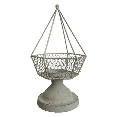 VOSAREA ljushållare järn vintage geometrisk värmeljus ljushållare värmeljushållare bröllop hem mittpunkt bordsdekoration ljusgrå