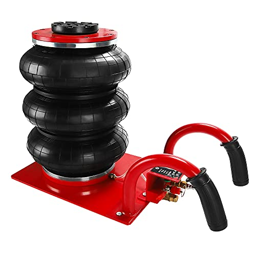 Anbull Pneumatic Jack 3 Ton, Triple Bag Air Jack, Lifting Height 15 Inch, Pneumatic Air Jack for Car with 6600LBS Capacity