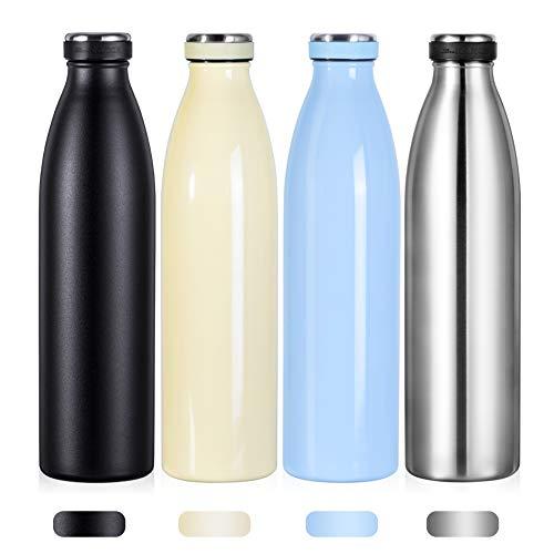 Love-KANKEI 水筒 マグボトル ステンレスボトル 真空断熱 保温 保冷 軽量 牛乳瓶 直飲み 1000ML ブルー