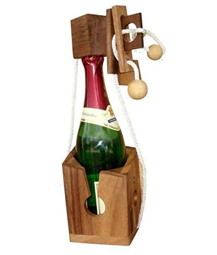Puzzle Weinflasche Flaschen Holzpuzzle Geschenkidee Wein Verschluss NEU