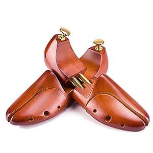 Zapatero, Zapatero de Cedro Zapatero, 1 par de expansor Extensible de Zapatos retráctil en Forma de Resorte de Madera Maciza, XL