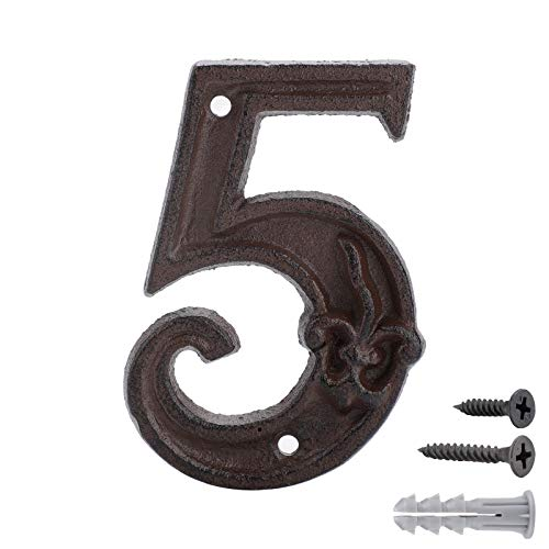 Números para Casas de Hierro Fundido 5,Dirección de La Casa Número ,Números de forja para indicar la numeración de las casas