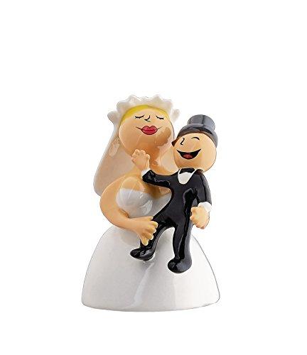 Alessi AMGI59 Abbracciami Amore Mio, Statuina per Torta Nuziale in Porcellana, Multicolore