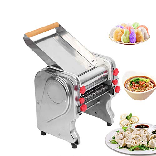 Stainless Steel Commercial Electric Noodle Making Pasta Maker Dough Roller Noodle Cutting Machine(220V/50HZ,Noodle Width 20CM)