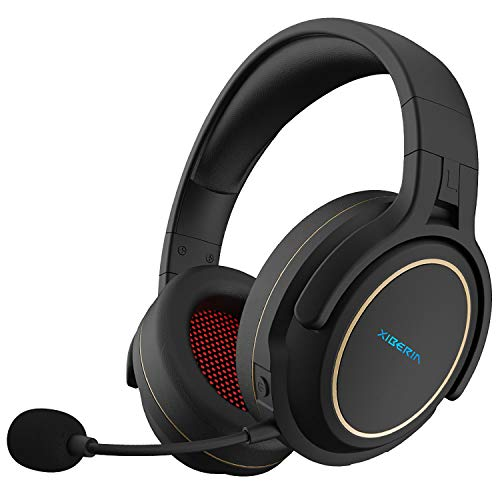 XIBERIA Wireless Gaming Headset for PS5 PS4,PC with Microphone,Lossless 2.4GHz Ultra-Low Latency,Double Chamber Drivers,Noise Cancelling MIC,Long Battery Life(Xbox One in Wired Mode)