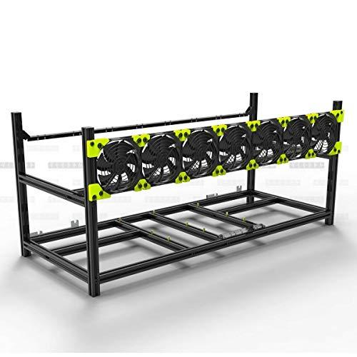 Veddha 6/8 GPU Aluminum Open Air Mining Rig Stackable Frame Holder ETH Ethereum