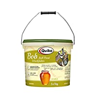 Quiko Bob - complete feed for quail, pheasants, various types of chickens and ground birds 5 kg bucket (5x1kg bag included in the bucket) Optimal freshness guarantee, the bags can be opened one after the other as required Made in Germany Made in Germ...