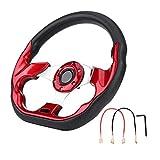 KSTE 320mm la dernière Fibre de Carbone Racing Steer Modification Mini Dérive Volant (Rouge)