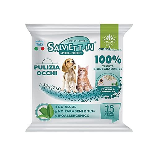 Digma Toallitas especiales para perros y gatos, 3 paquetes de 15 toallitas (toallitas especiales de bolsillo especial 15 unidades)