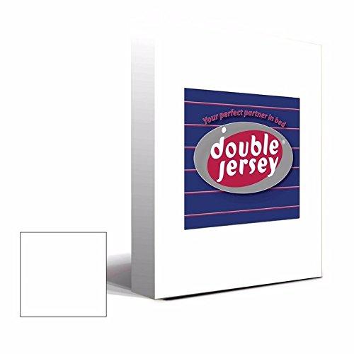 #3 Double Jersey Jersey Spannbettlaken, Spannbetttuch, Bettlaken, 160x200x30 cm, Weiß - 2
