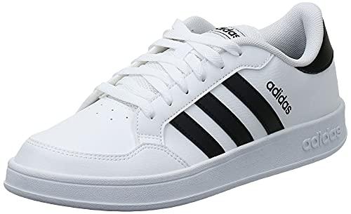 adidas BREAKNET, Chaussures de Tennis Homme, FTW Bla/Negbás/Negbás, 42 EU