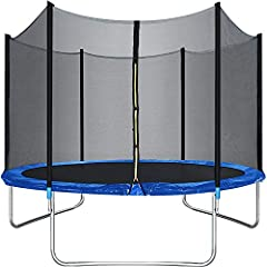 ☀【HIGH ELASTICITY HEAVY JUMPING PAD】Our trampoline is wrapped in 60 high-tension steel springs, providing a very strong elasticity for the exercise trampoline, when children play in our kid trampoline, they can jump higher.trampoline exercise trampol...