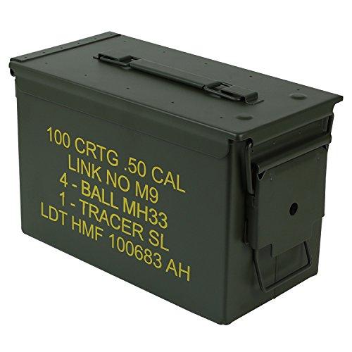 HMF 70011 Munitionskoffer, US Ammo Box, Metallkiste, 30 x 19 x 15,5 cm, grün - 3