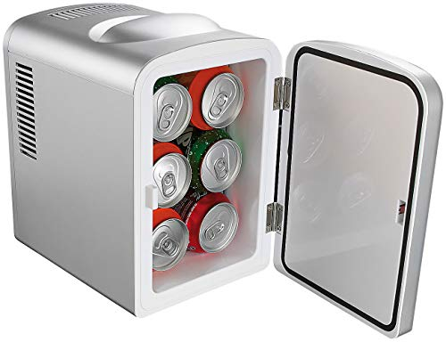 Rosenstein & Söhne Mini Kühlschrank Auto: Mobiler Mini-Kühlschrank mit Wärmefunktion, 4 Liter, 12 & 230 V (Mini Kühlschrank 12V)