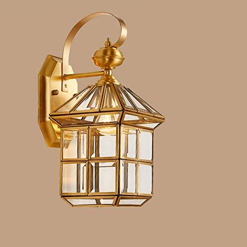 L.J.JZDY Lámpara de Pared Shade Lámpara de Pared Exterior de Cristal Balcón arandela de la Pared Exterior Patio Villa Imagen de Pared Exterior Accesorios 17 * 35cm