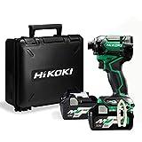HiKOKI(ハイコーキ) 第2世代36Vインパクトドライバ アグレッシブグリーン 小型軽量化 ビット振れ軽減 トリガーフィーリング向上 蓄電池2個・ケース付き 充電器別売り WH36DC(2XN)