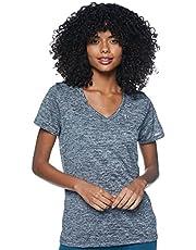Under Armour Tech T-shirt met korte mouwen V - Twist, dames gemaakt van 4-Way Stretch Stof, ultralicht & Ademend Running Kleding Vrouwen