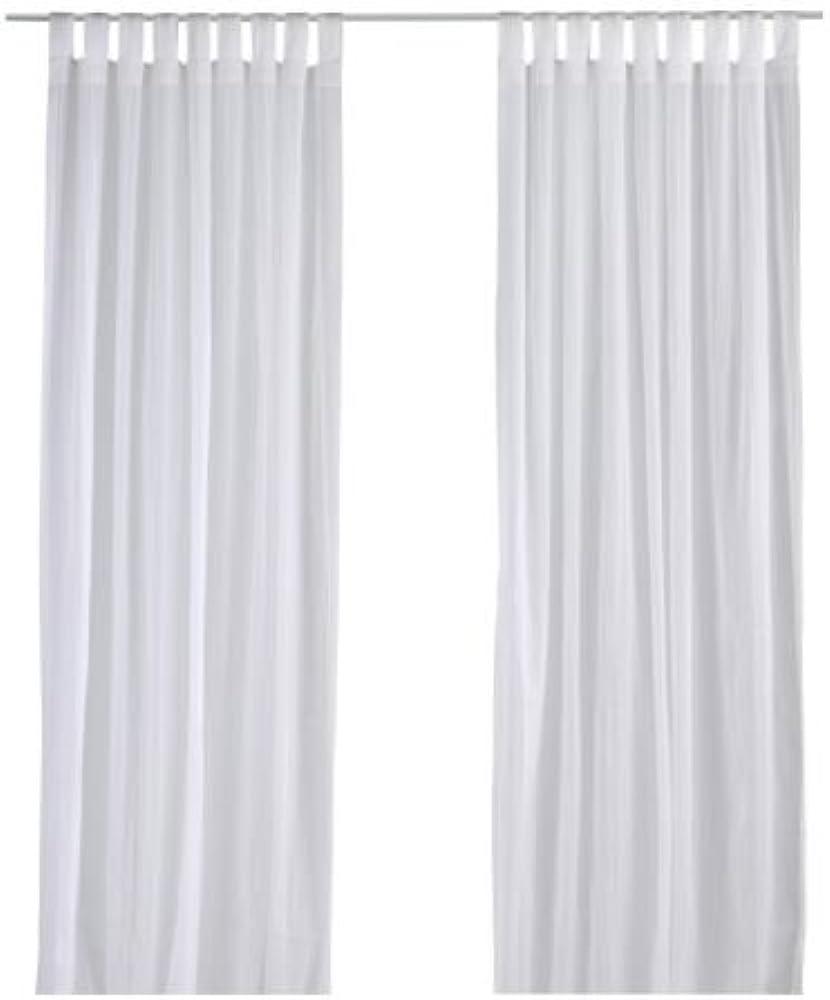 Ikea matilda,set di due tende,in 100% cotone,con occhielli,dimensioni: 300 cm x 140 cm 500.460.48