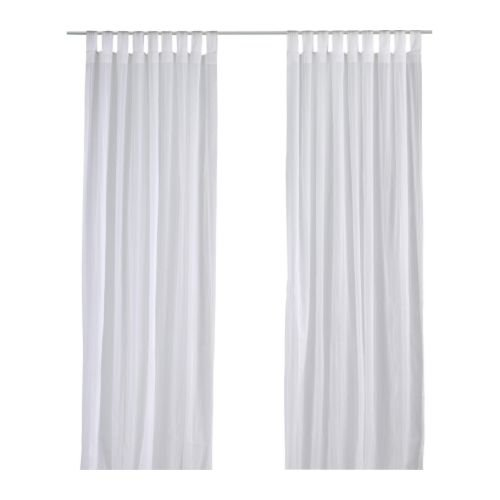 IKEA Matilda Sheer Curtains | 100% Cotton | 1 Pair White | 55 x 118 inches Long Each | for All Windows of Your Home - Living Room Kitchen Bedroom (55 W x 118 L)