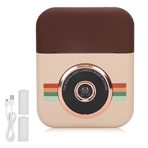 Cámara de película instantánea, mini cámara de impresión para niños, cámara digital de video selfie de alta definición, regalo de viaje de cumpleaños de juguete digital creativo de dibujos animados