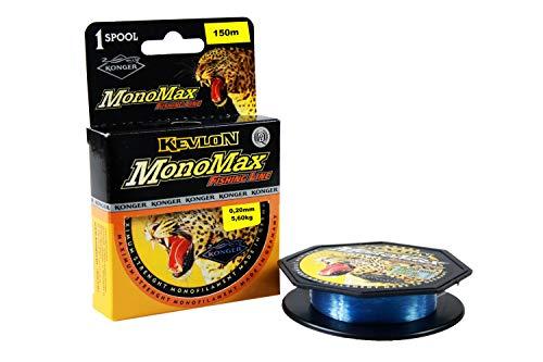 Konger Monomax - Sedal de Pesca (0,10 mm - 0,50 mm / 150 m, monofilamento), Azul Claro, 0,40mm / 14,70kg