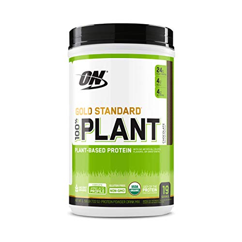 Optimum Nutrition Gold Standard 100% Plant Based Protein Powder, Chocolate, 19 Servings