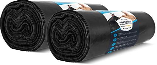 PREMIUM vuilniszakken 240L extra sterk 15 stuks 70 my 2 rollen - huishoudelijke en industriële vuilniszakken scheurvast - sterke vuilniszakken ZWART - DUITSE PRODUCTIE 100 x 125 cm voor vuilnisbak