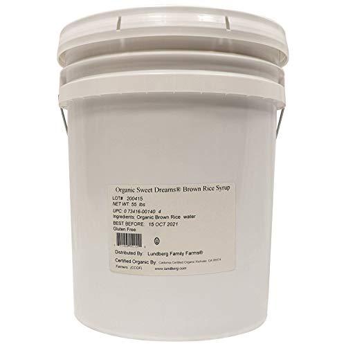 Lundberg Family Farms - Organic Sweet Dreams Brown Rice Syrup, Substitute Sweetener, Replaces Sugar, Honey, Corn Syrup, Non-GMO, Gluten-Free, USDA Certified Organic, Vegan, Kosher (5 Gallon)