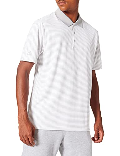 adidas Herren Performance Stripe Polo Shirt Poloshirt, Grau (Gris Claro Dq2313), X-Large