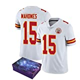 NQH Mahomes Rugby Jersey Rugby Shirt, Mahomes 87# Chiefs Rugby Training Shirts, Convient pour Divers Sports Summer Short Sleeves (s-3xl)-White-XXXL
