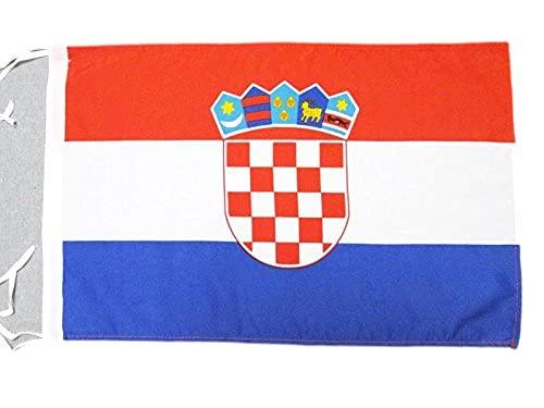 AZ FLAG Drapeau Croatie 45x30cm - PAVILLON croate 30 x 45 cm Haute qualité
