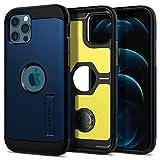 Spigen Funda Tough Armor Compatible con iPhone 12 y Compatible con iPhone 12 Pro - Azul Marino