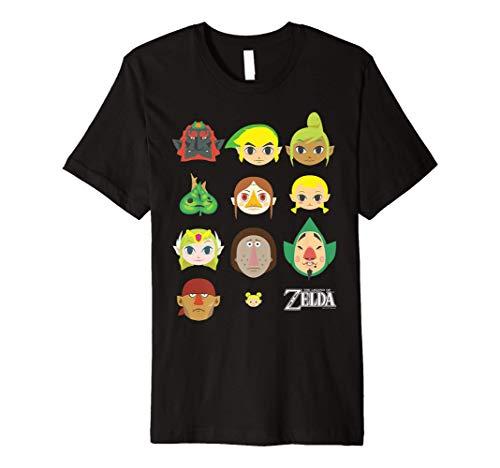 Nintendo Zelda Simple Character Faces Premium T-Shirt