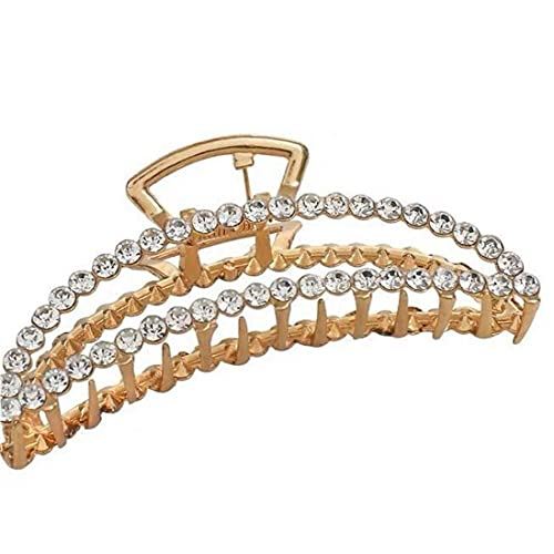 TOSSPER 1pc Grande Perla Clip di Gioielli Ellittica Crescent Artigli dei Elegante Accessori per