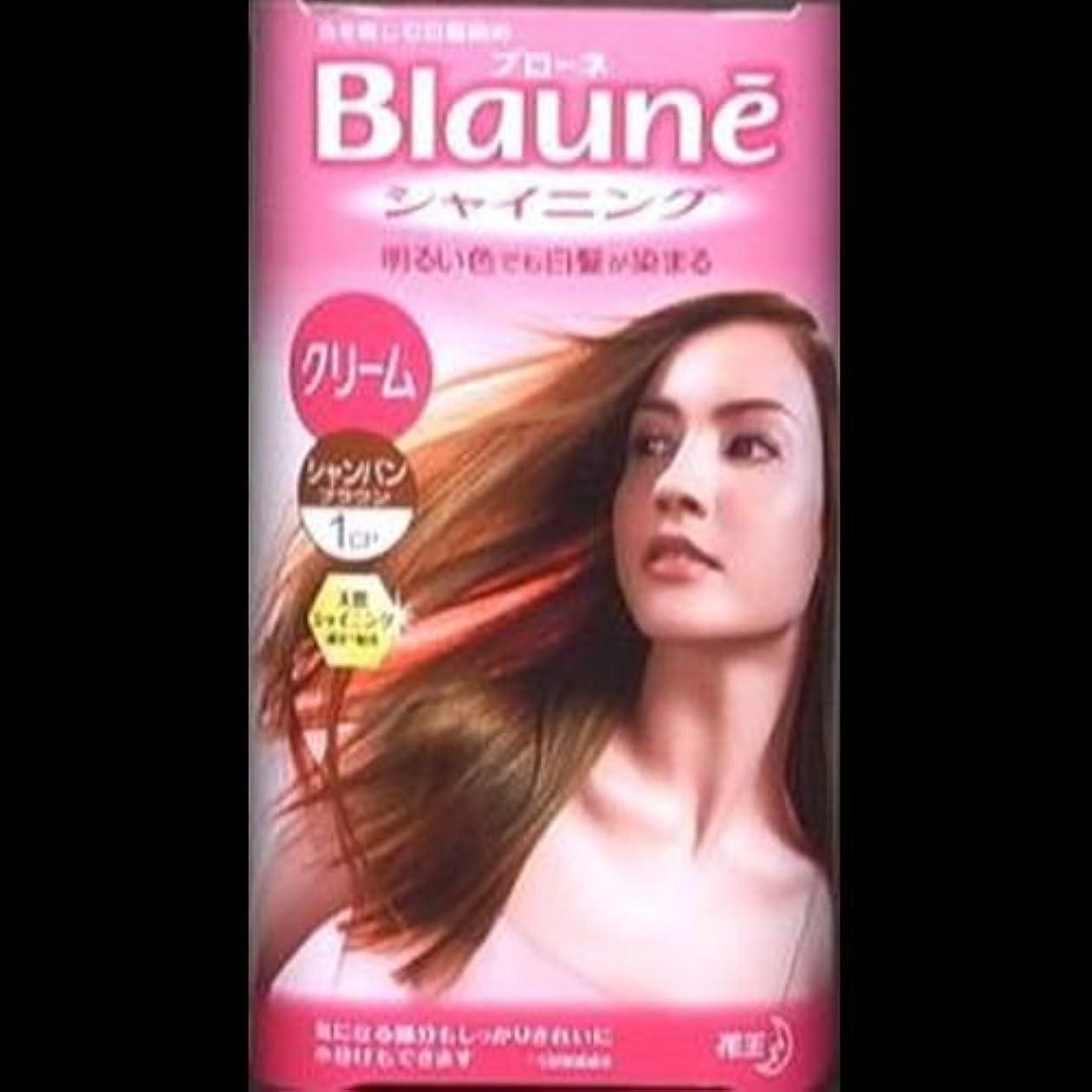実験弱い支給【まとめ買い】ブローネシャイニングヘアカラークリーム 1CP シャンパンブラウン ×2セット