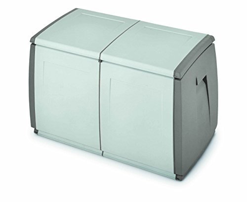 Terry, In & Out Box 97, Multifunktionsbox, Farbe: Grau/Taubengrau, Material: Kunststoff, Größe: 97x54x57 cm, Fassungsvermögen: 240 l