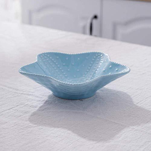 LHQ-HQ Decoraciones Arte Artesanía Océano cerámica vajilla postres conchas bocadillos platos platos hogares platos