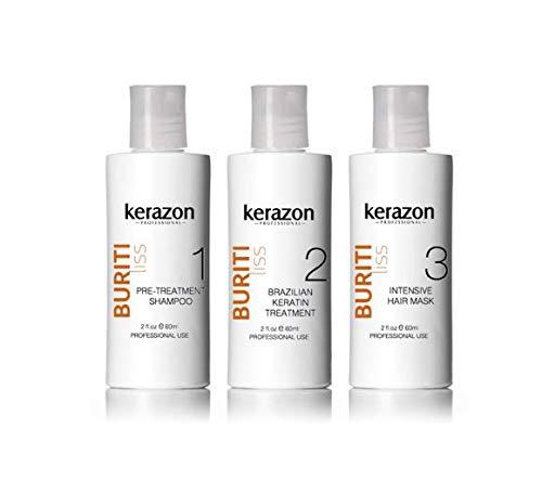 Brazilian Keratin Treatment Complex Blowout KERAZON kit 2oz/60ml - Tratamiento de Keratina Queratina Brasileña para Alisar Importada