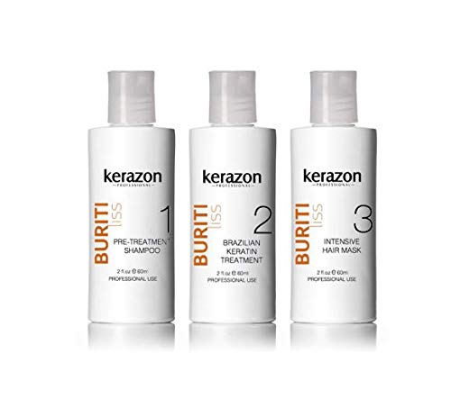 Brazilian Keratin Treatment Complex Blowout KERAZON kit 2oz/60ml - Tratamiento de Keratina Queratina Brasileña para Alisar Importada