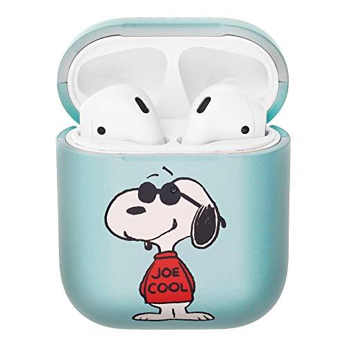 Peanuts Snoopy ピーナッツ スヌーピー AirPods と互換性があります ケース エアーポッズ用ケース 硬い スリム ハード カバー (ハッピー スヌーピー JOE COOL) [並行輸入品]