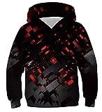 Fanient Unisex Realistischer 3D-Druck DJ Pizza Cat Pullover Hoodie Lustiges Muster Mit Kapuze Sweatshirts/Taschen für Teenager Jumper 12-13 Jahre