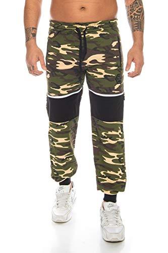 Raff&Taff Herren Sporthose Camouflage Hose Freizeithose Yogahose Sweathose Fußballhose Jogginghose (Woodland(2904), 3XL)