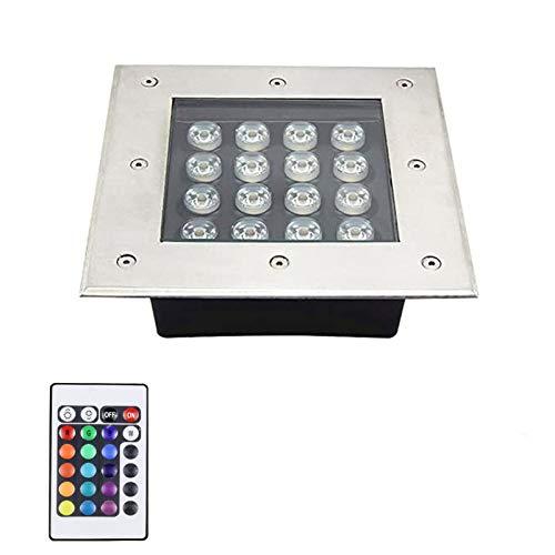 AWSAD 16W RGB con luz subterránea LED de Control Remoto, 16 Colores y 4 Modos Luz de decoración IP67 a Prueba de Agua (Size : 85-265V)