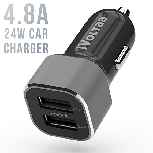 iVoltaa 4.8 A - 24W Dual Port Metal Car Charger with Micro...