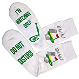 Funny Golf Socks 'Shhh, I'm Watching Golf' Ankle/Lounge Socks - Great Gift For a Golfer (Full Length Calf Socks)