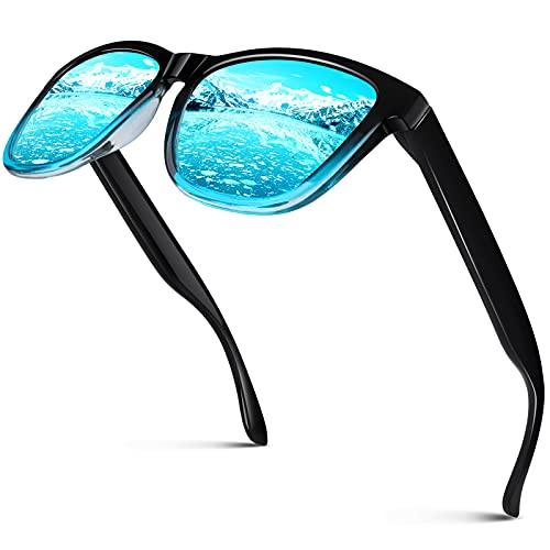 CGID Gafas de Sol Polarizadas Hombre y Mujer Retro Deportivos 80 s Ultra Light Protección UV400 MJ17