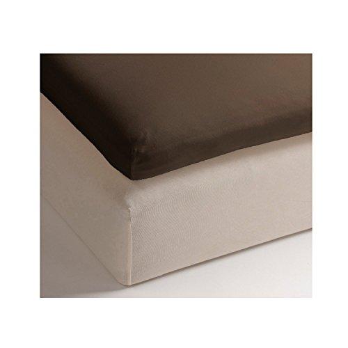 Heckett & Lane hoeslaken voor boxspring topper 180 x 200 cm 12 cm I Chocolate Brown Brown Brown