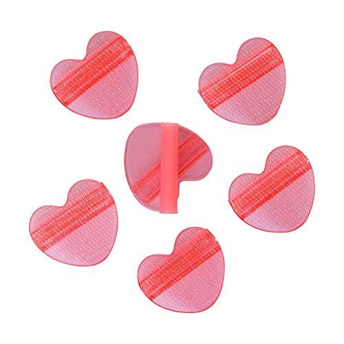 6 Stück Bettdeckenbezug-Clips, Anti-Rutsch-Klemme ohne Nadel, Bettlakenfixierer, Duvet Clip Bettdecken Clips,Hält Bettdecken an Ort und Stelle für Houseware Bett Clip Tröster (rot)
